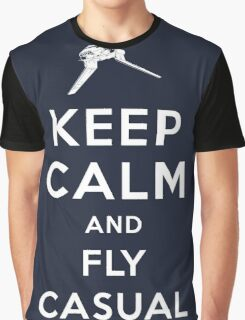Keep Calm and Fly Casual Graphic T-Shirt