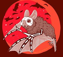 Bats Over the Blood Moon by BasilFox