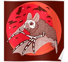 Bats Over the Blood Moon Poster