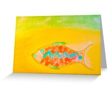 Water Color Fish Greeting Card