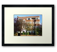 London Deco: Oman Court 2 Framed Print