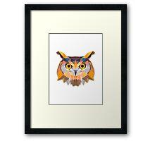 Polygonal Owl Framed Print