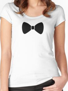 Black Bow Women's Fitted Scoop T-Shirt