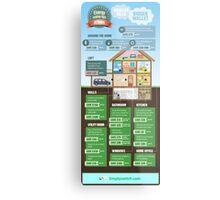 Save Energy Infographic Metal Print