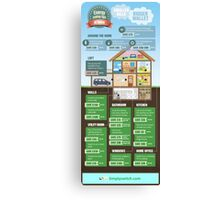 Save Energy Infographic Canvas Print