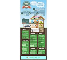 Save Energy Infographic Photographic Print