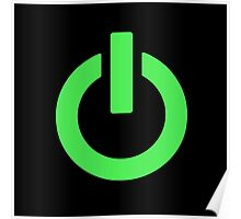 Power Button (green) Poster