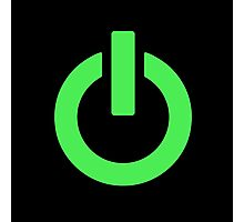 Power Button (green) Photographic Print