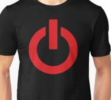 Power Button (red) Unisex T-Shirt