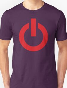 Power Button (red) Unisex T-Shirt