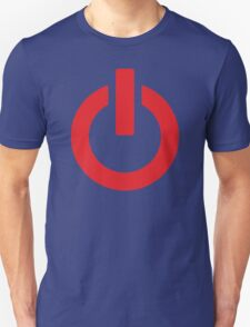 Power Button (red) T-Shirt