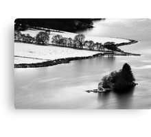 Queens View - Upon A Frozen loch Canvas Print
