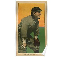 Benjamin K Edwards Collection Germany Schaefer Detroit Tigers baseball card portrait 001 Poster