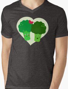 Broccoli in Love Mens V-Neck T-Shirt
