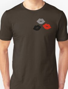 Red and Black Lips Pattern T-Shirt
