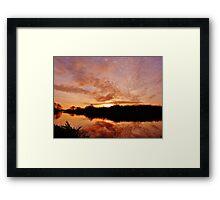 River Idle Stop Sunrise Framed Print