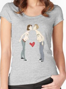 Kissing With Your Eyes Open Women's Fitted Scoop T-Shirt