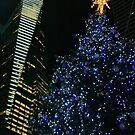 Bryant Park Christmas Tree by Barbara  Brown