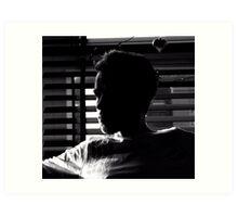Radek in the shadow Art Print