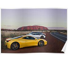 Ferrari 458 Italia at Uluru Poster