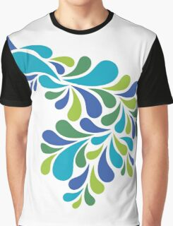 Abstract Peacock Graphic T-Shirt