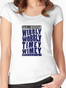 Talk Whovian to Me (Version 2) Women's Fitted Scoop T-Shirt