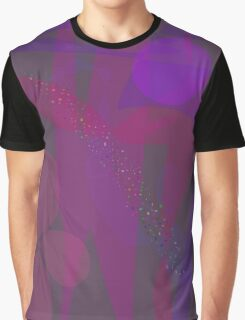 Flower Stars Purple Moon Graphic T-Shirt