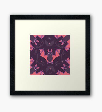 Bats Damask Wallpaper Framed Print