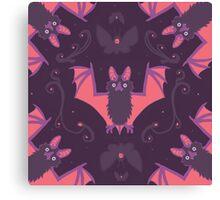 Bats Damask Wallpaper Canvas Print