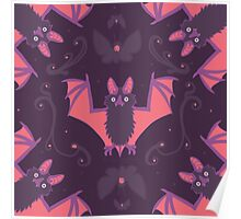 Bats Damask Wallpaper Poster
