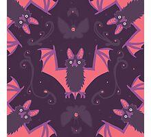 Bats Damask Wallpaper Photographic Print