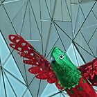 Melbourne - Christmas parrot at Fed Square by Maureen Keogh
