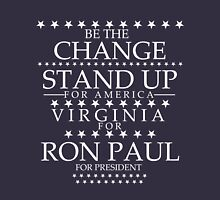 """""""Be The Change- Stand Up For America"""" Virginia for Ron Paul T-Shirt"""