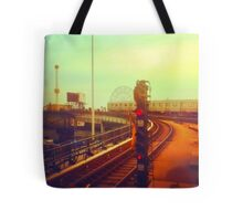 entering coney island station Tote Bag