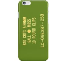 5.56x45mm M855 ammo can iPhone Case/Skin
