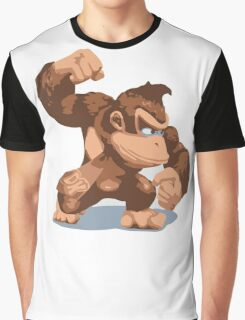 Minimalist Donkey Kong from Super Smash Bros. Brawl Graphic T-Shirt