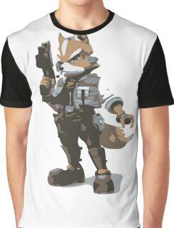 Minimalist Fox from Super Smash Bros. Brawl Graphic T-Shirt