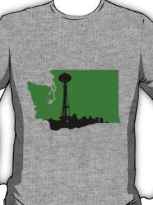 Ode to Washington State Black Silhouette T-Shirt