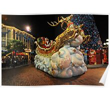 Christmas Parade at Disneyland, Hong Kong Poster