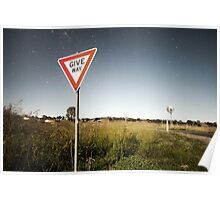 Road sign with stars Poster