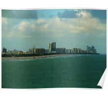 Miami Coastline Poster