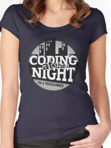 Programmer T-shirt : Coding at the night Women's Fitted Scoop T-Shirt