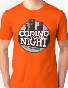 Programmer T-shirt : Coding at the night T-Shirt