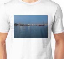 Mediterranean Blue Hour Magic - Valletta's Marsamxett Harbour Shimmering Lights Unisex T-Shirt
