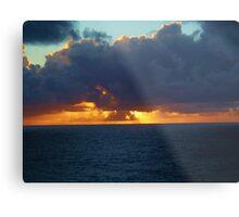 Caribbean sunset at sea Metal Print