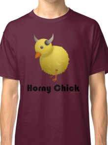 Horny Chick, Funny Cartoon Chicken Design Classic T-Shirt