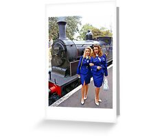 Two girls and an M7 Greeting Card