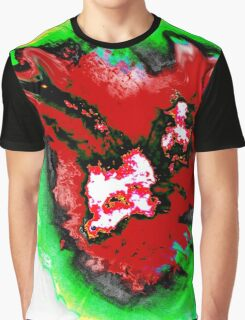 Dark red  green phoenix Graphic T-Shirt
