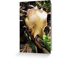 Weird Growing Mushroom Greeting Card