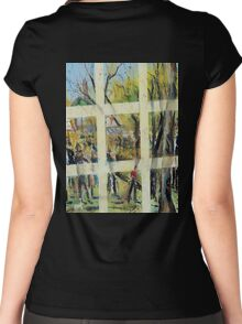 Come stroll the market with me - Lancefield, Vic, Australia Women's Fitted Scoop T-Shirt
